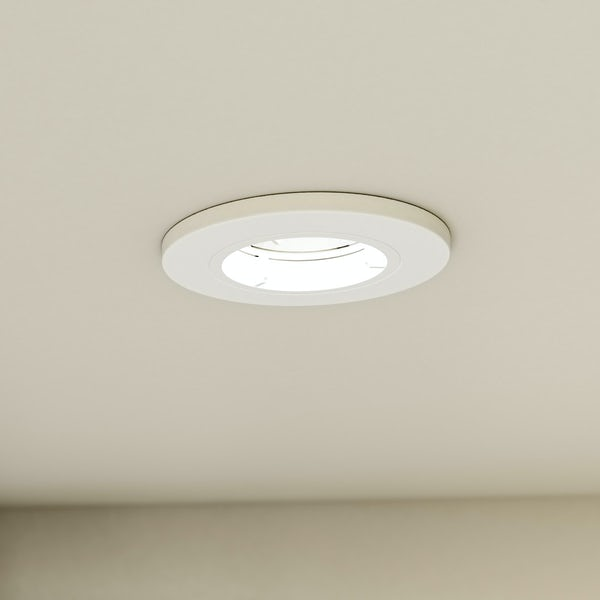 Forum fixed fire rated bathroom downlight in white