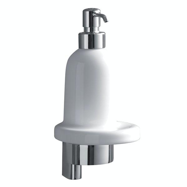 Ideal Standard Concept ceramic soap dispenser with bracket and holder