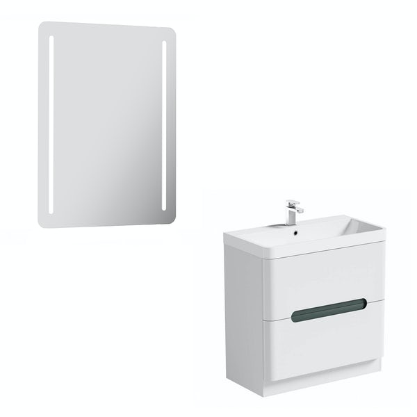 Mode Ellis slate vanity unit 800mm and mirror offer