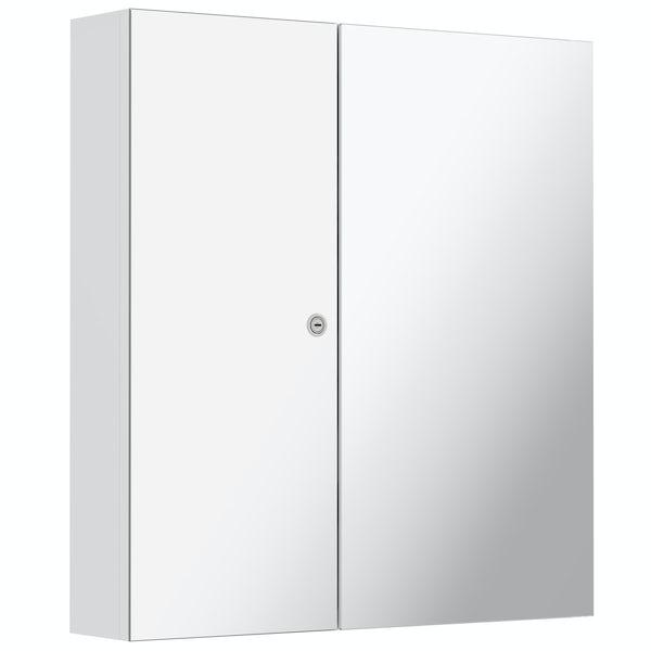 Mode Lockable mirror cabinet 660 x 614mm