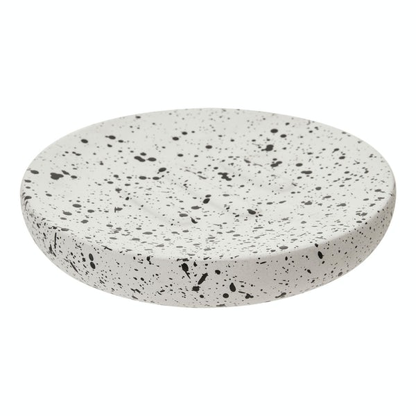 Accents Goza concrete white and black soap dish
