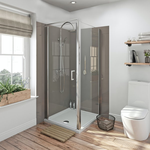 Zenolite plus fossil acrylic shower wall panel 2070 x 1000