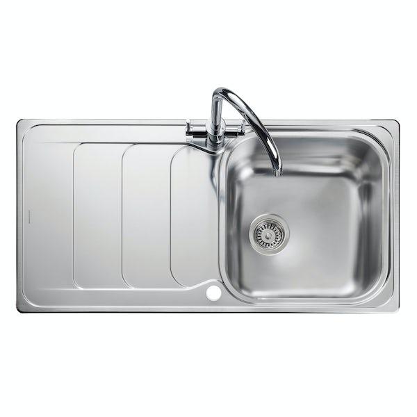 Rangemaster Houston 1.0 bowl reversible kitchen sink with waste kit