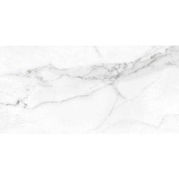 Storm white marble effect matt wall and floor tile 300mm x 600mm