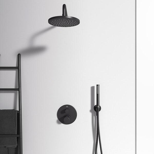 Ideal Standard Ceratherm silk black T100 round thermostatic shower valve