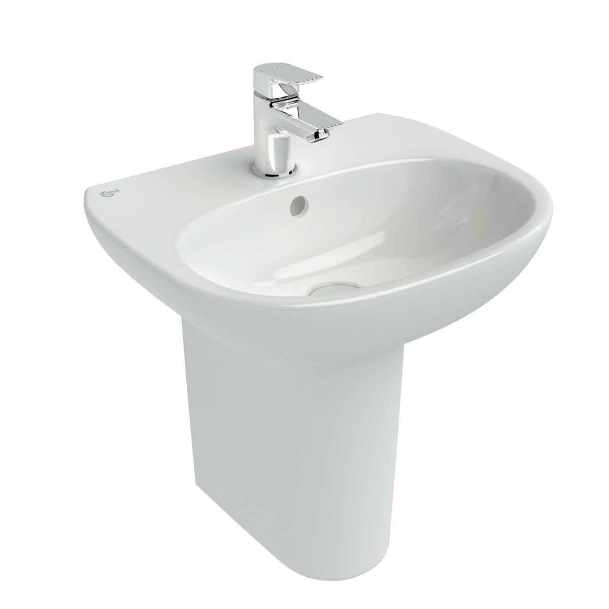 Ideal Standard Tesi 1 tap hole semi pedestal basin 450mm