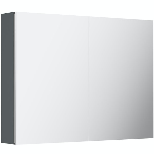 Orchard Elsdon grey mirror cabinet 600 x 800mm