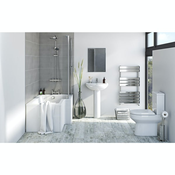 Bristan and Orchard complete left handed shower bath suite