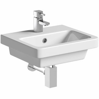 Mode Cooper 1 tap hole wall hung basin 400mm