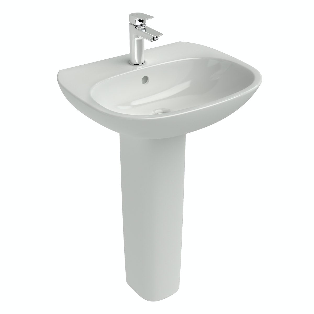 Ideal Standard Tesi 1 tap hole full pedestal basin 550mm