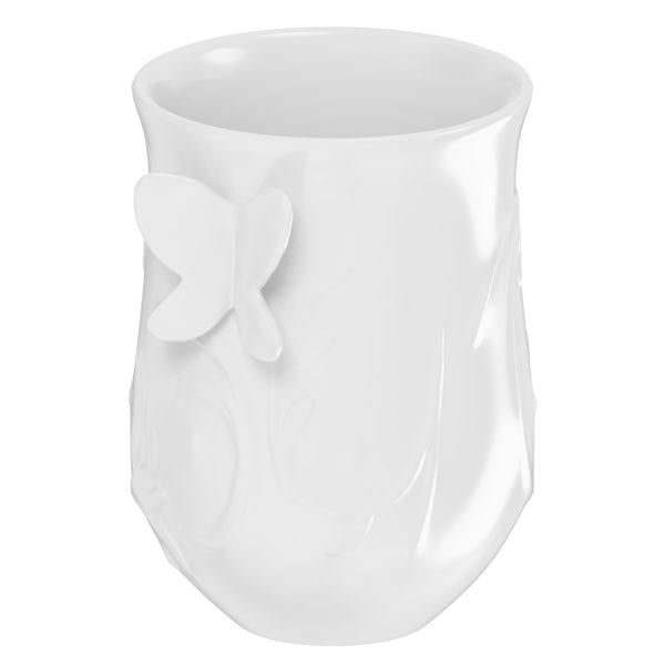 Edelle porcelain white butterfly tumbler