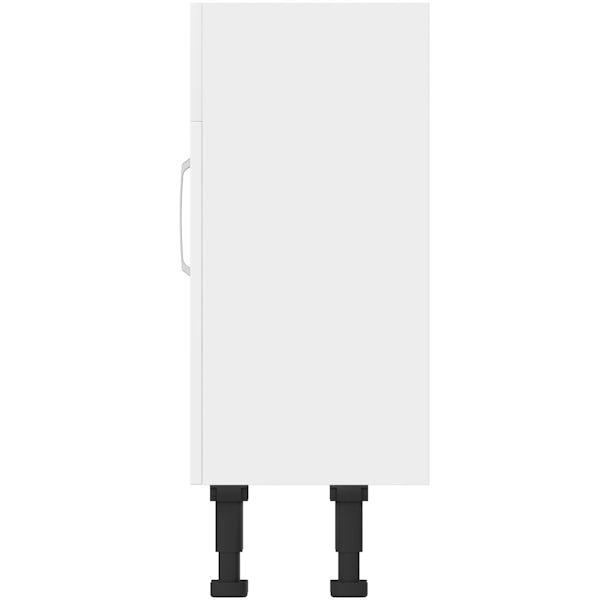 Mode Nouvel gloss white vanity unit 600mm