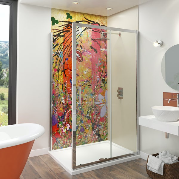 Artist Collection Barley Beige acrylic shower wall panel 2440 x 900mm