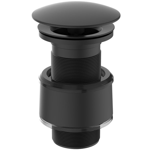 Ideal Standard silk black luxury free flow basin waste - unslotted