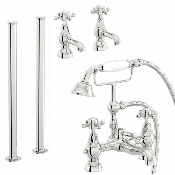Coniston Basin Tap and Bath Shower Mixer with Standpipe Pack