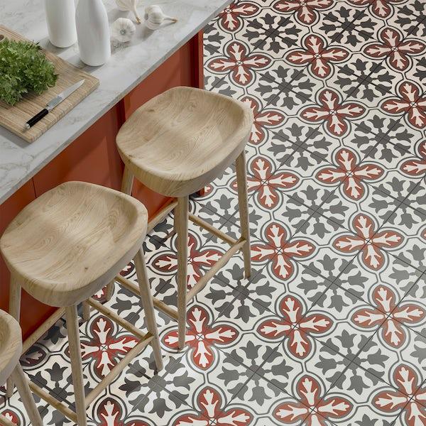Valencia Diaz traditional matt wall and floor tile 200mm x 200mm