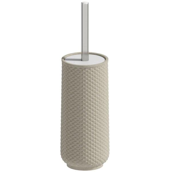 Accents ceramic cream toilet brush holder