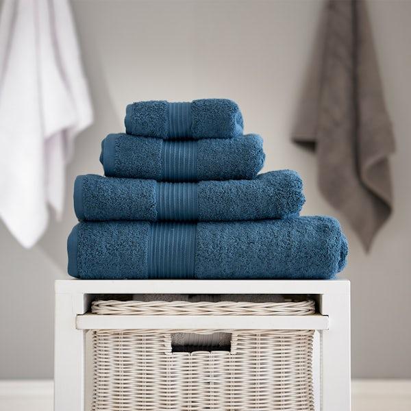 Deyongs Bliss antibacterial 650gsm 6 piece towel bale petrol
