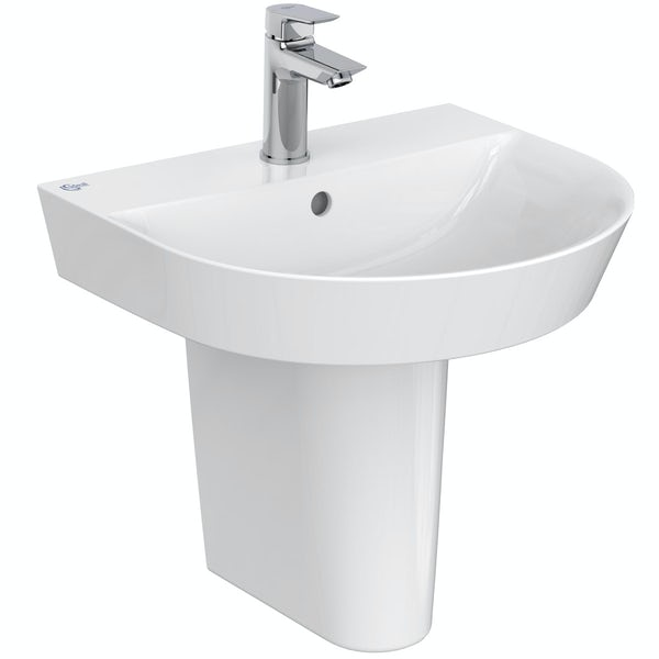 Ideal Standard Concept Air Arc open back toilet and semi pedestal suite 500mm