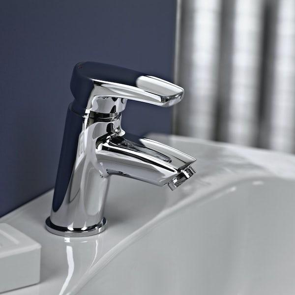 bristan orta basin mixer tap with waste. Black Bedroom Furniture Sets. Home Design Ideas