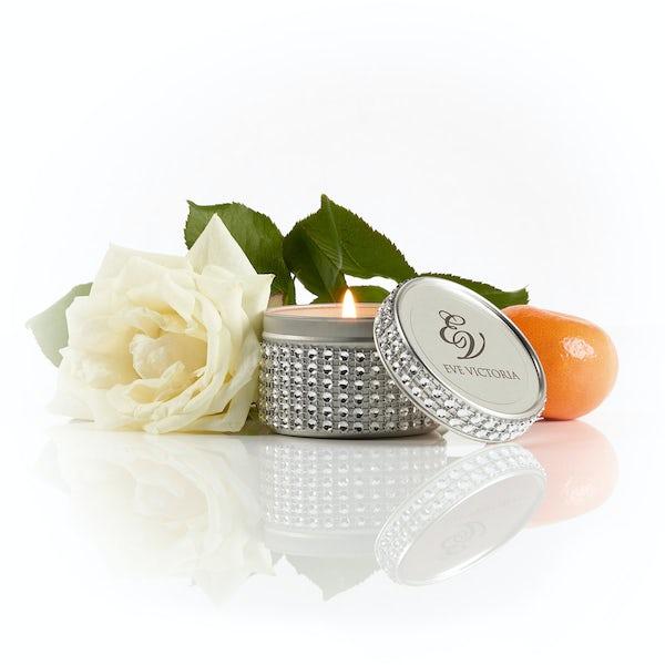 Eve Victoria Neroli, rose & sandalwood diamante tin