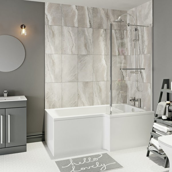 Boston Shower Bath 1700 x 850 RH inc. Screen & Towel Rail