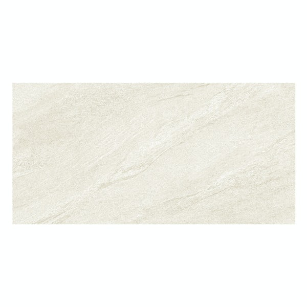 Alicura ivory stone effect matt wall and floor tile 300mm x 600mm