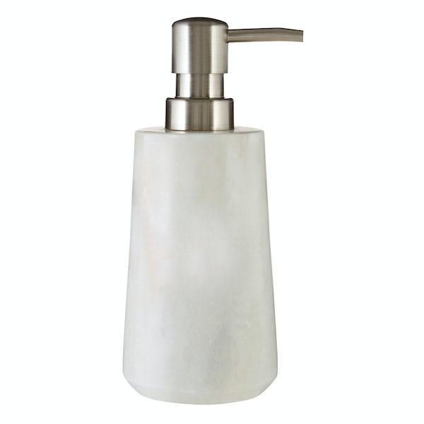 White marble soap dispenser