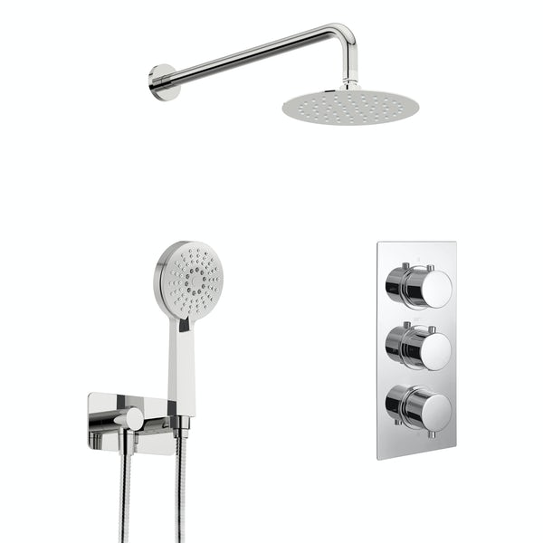 Kirke Curve concealed thermostatic mixer shower with wall arm and handset