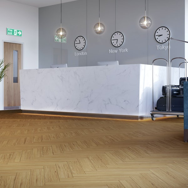 Malmo LVT Herringbone Bergen embossed stick down flooring 2.5mm