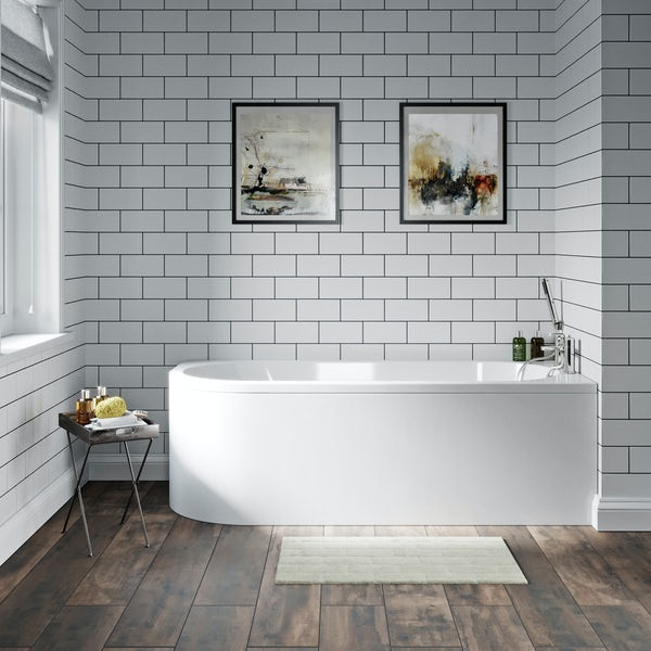 Orchard Elsdon J shaped acrylic bath panel