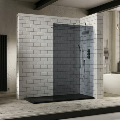 Smoked Shower Screen