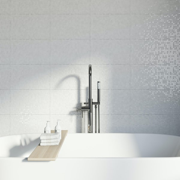 Studio Conran hartland white pressed mosaic tile 248mm x 398mm