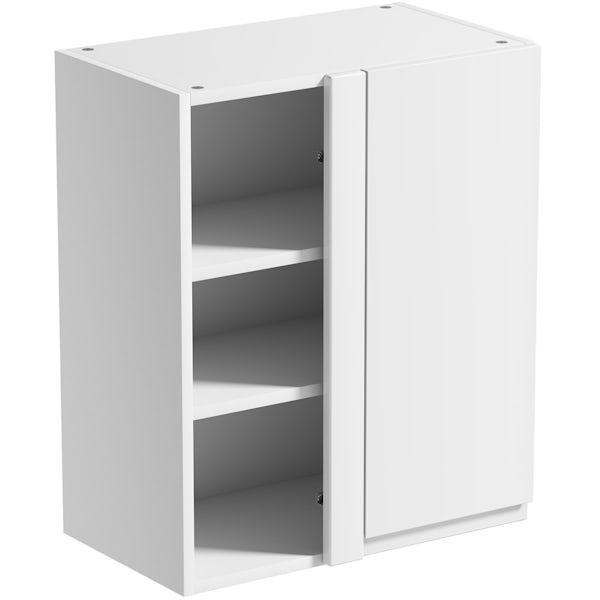Schon Chicago white slab 600mm corner wall unit