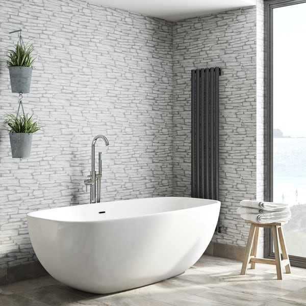 Fine Decor slate sidewall cream wallpaper