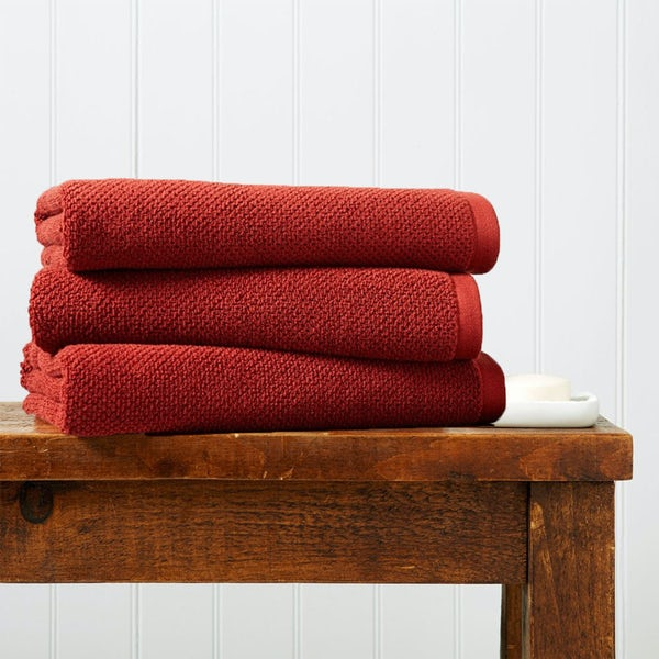 Christy Brixton cinnabar bath sheet