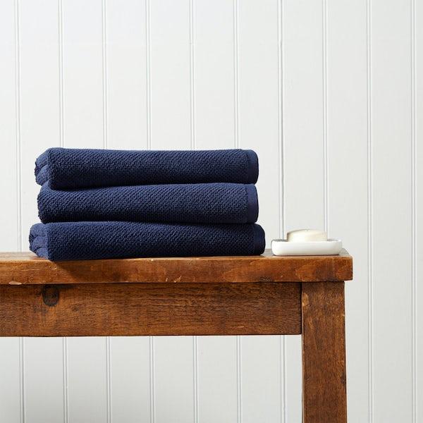 Christy Brixton midnight bath towel