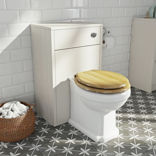 The Bath Co. Dulwich stone ivory back to wall toilet unit