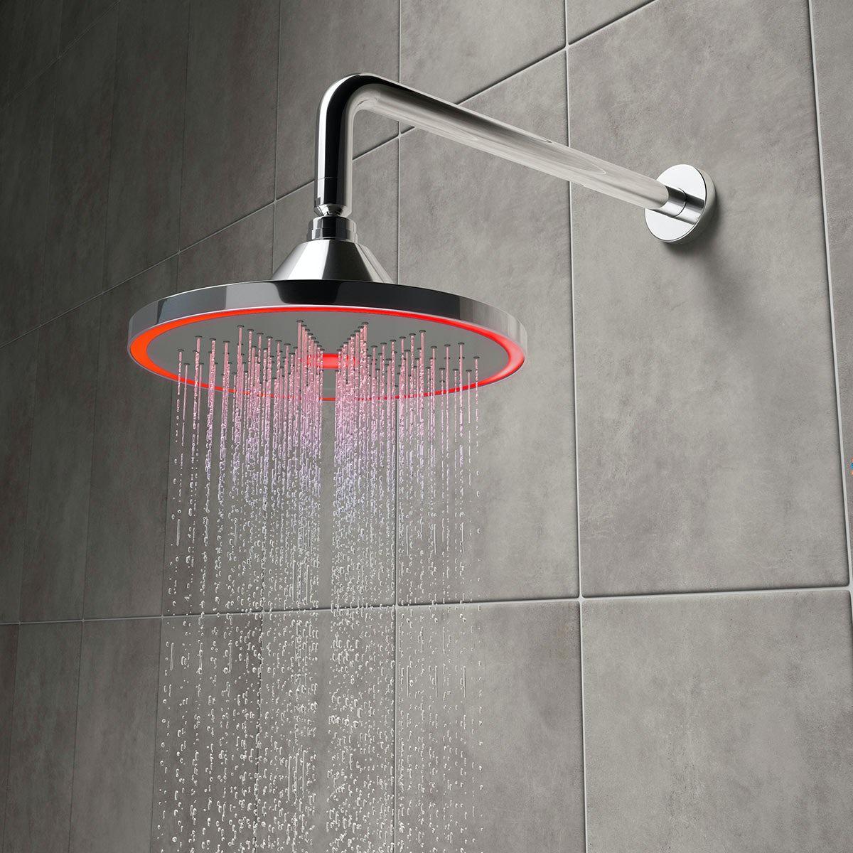 Mode Hydro Temperature LED Shower Head 235mm | VictoriaPlum.com