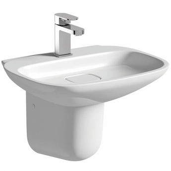 Mode Heath 1 tap hole semi pedestal basin 500mm