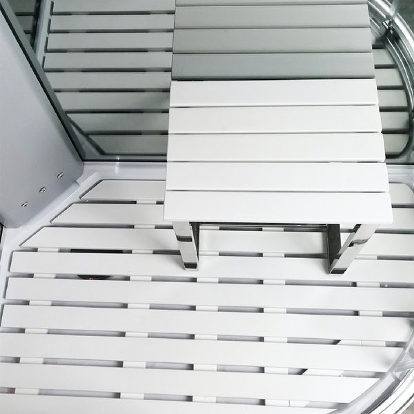 Insignia Platinum offset quadrant left handed steam shower cabin