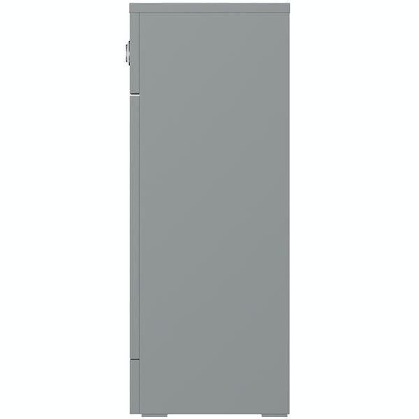 Orchard Elsdon stone grey slimline back to wall toilet unit 500mm