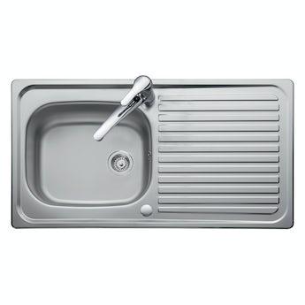 Leisure Linear 1.0 bowl reversible kitchen sink