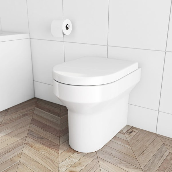 Orchard Wharfe comfort height back to wall toilet with soft close slim seat