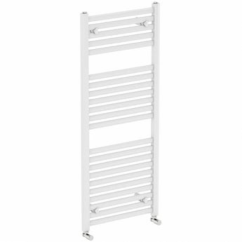 The Heating Co. Clarity white heated towel rail 1200 x 600