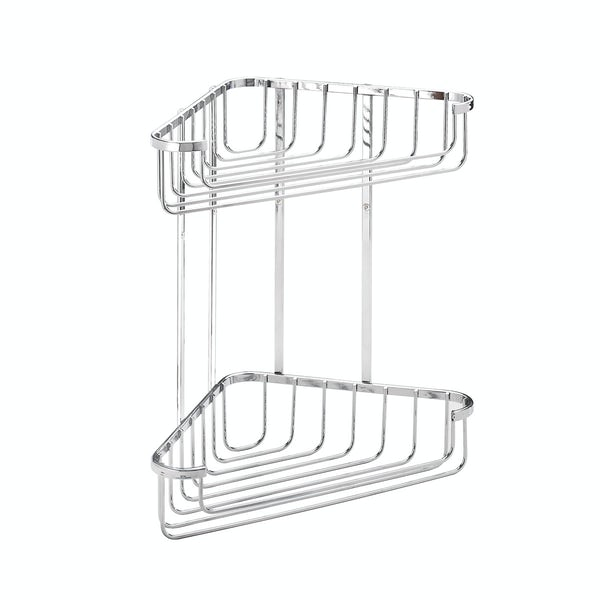 Croydex Rust free large two tier corner basket