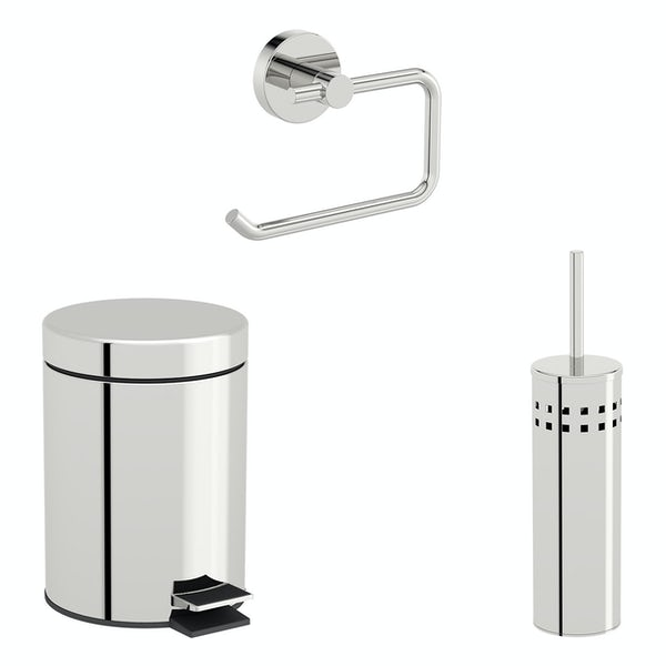 Accents Options round toilet accessories set with 5 litre bin