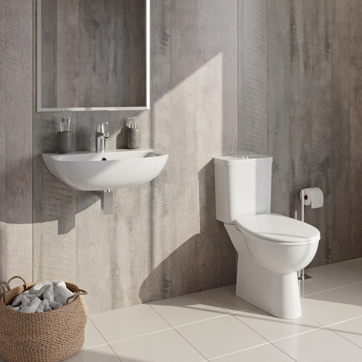 Grohe Bau Complete Cloakroom Suite With Tap And Waste