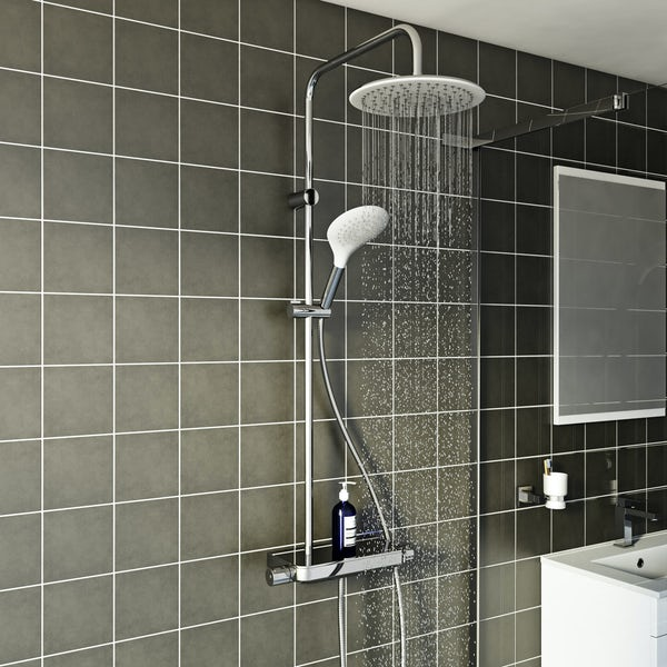 Mode Pure thermostatic shower valve riser system