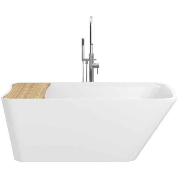 Mode Foster freestanding bath & tap pack with Heath bath filler